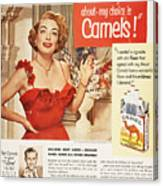 Camel Cigarette Ad, 1951 Canvas Print