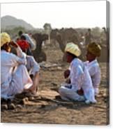 Camel Traders Pushkar Canvas Print