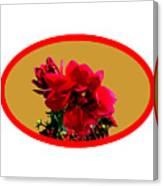 Camellia Bg Gold Canvas Print