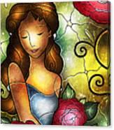 Camellia Lady Canvas Print