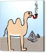 Camels Don't Smoke Pipes Canvas Print