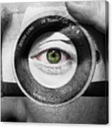 Camera Face Canvas Print