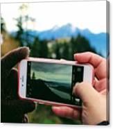 Camera Phone Canvas Print