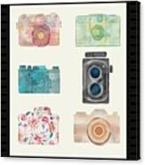 Cameras Of Today And Yesteryear Canvas Print