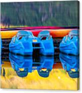 Cameron Lake Paddle Boats Canvas Print