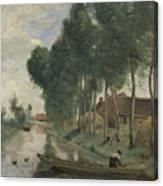Camille Corot   Landscape At Arleux Du Nord Canvas Print