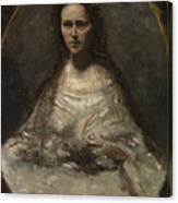 Camille Corot   Sketch Of A Woman In Bridal Dress Canvas Print