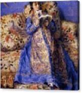 Camille Monet Reading 1872 Canvas Print