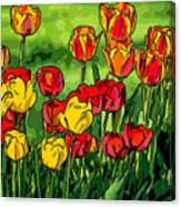 Camille's Tulips Canvas Print