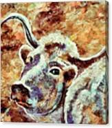 Camouflage Cow Art Canvas Print