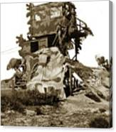 Camouflage Observation Tower Near Asilomar And The Point Pinos Lighthouse 1941 Canvas Print