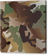 Camouflage Pattern Background  Clothing Print, Repeatable Camo G Canvas Print