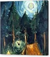Camp At Night Canvas Print