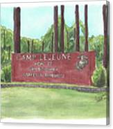 Camp Lejeune Welcome Canvas Print