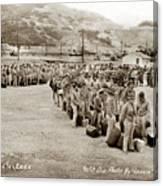 Camp San Luis Obispo Army Base 40th Division Photo 143rd Field Artillery 1941 Canvas Print
