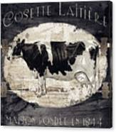 Campagne I French Cow Farm Canvas Print