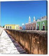 Campeche Wall And City View Canvas Print