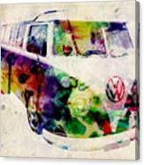 Camper Van Urban Art Canvas Print