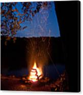 Campfire At Dusk Canvas Print