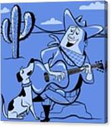 Campfire Cowboy Song Canvas Print