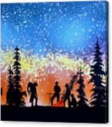 Campfire Tales Canvas Print