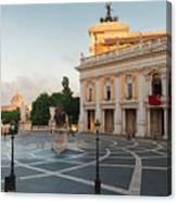 Campidoglio Square In Rome Canvas Print