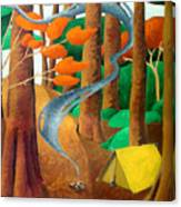 Camping - Through The Forest Series Canvas Print