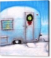 Camping Christmas  Canvas Print