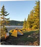 Campsite On Alder Lake Canvas Print