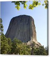 Can You Find The Climbers On Devils Tower Wyoming -1 Canvas Print