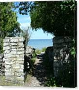 Cana Island Walkway Wi Canvas Print