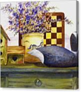 Canada And Checkerboard Canvas Print