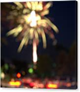 Canada Day 150 Lights 4 Canvas Print