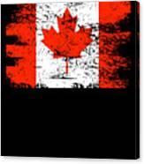 Canada Flag Gift Country Patriotic Travel Shirt Americas Light Canvas Print