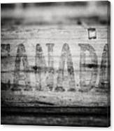 Canada In Black And White Canvas Print