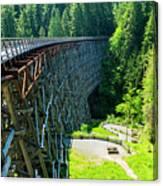 Canada National Historic Wooden Trestle- Kinsol Trestle Near Shawnigan Lake, Bc Canada. Canvas Print