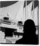 Canada Place Wings Silhouette Canvas Print