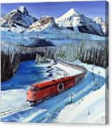 Canadian At Morant's Curve Canvas Print