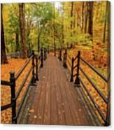 Canadian Autumnal Walkway Canvas Print