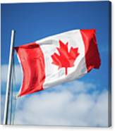 Canadian Flag Flying Proudly Canvas Print