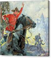 Canadian Mounties Canvas Print