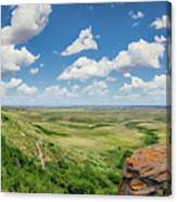 Canadian Prairie At Head-smashed-in Buffalo Jump Canvas Print