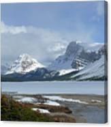 Canadian Rockies Bow Lake Canvas Print