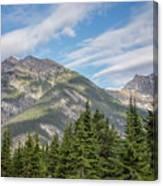 Canadian Rockies Near Kicking Horse Pass Canvas Print