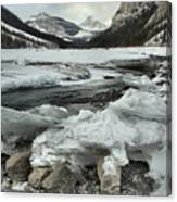 Canadian Rockies Rugged Winter Landscape Canvas Print