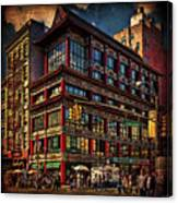 Canal And Center Streets New York City Canvas Print