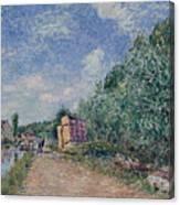 Canal Du Loing-chemin De Halage Canvas Print