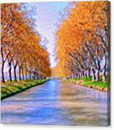 Canal Du Midi Canvas Print