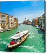Famous Canal Grande In Venice Canvas Print