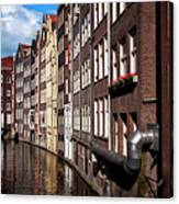 Canal Houses Canvas Print